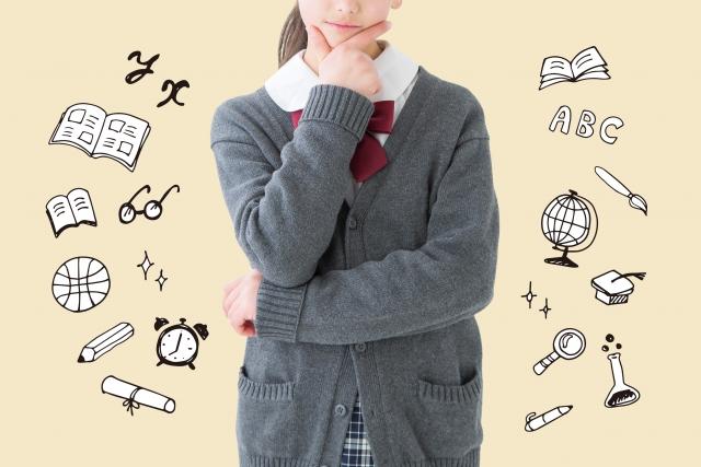 数学で悩む女の子
